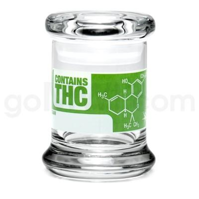 Glass Jar 420 Pop-Top 1/8oz-THC