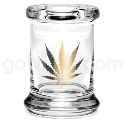 Glass Jar 420 Pop-Top 1/8oz-Gold Leaf