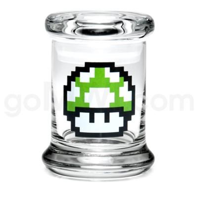 Glass Jar 420 Pop-Top 1/8oz-1-Up Mushroom