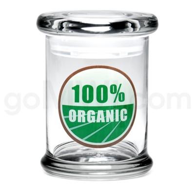 Glass Jar 420 Pop-Top 1/2oz-100% Organic