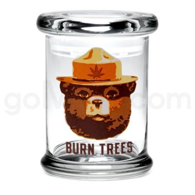 Glass Jar 420 Pop-Top 1/2oz-Burn Trees