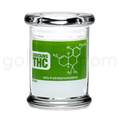 Glass Jar 420 Pop-Top 1/2oz-THC