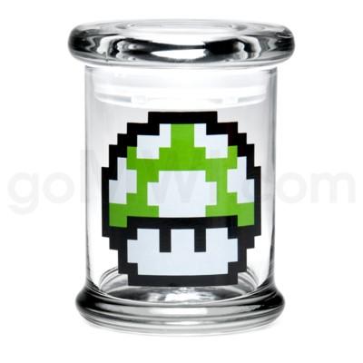 Glass Jar 420 Pop-Top 1/2oz-1-Up Mushroom
