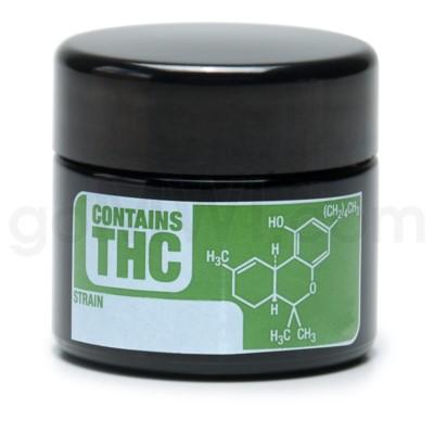 Glass Jar 420 UV Screw Top 1/8oz- THC Write & Erase