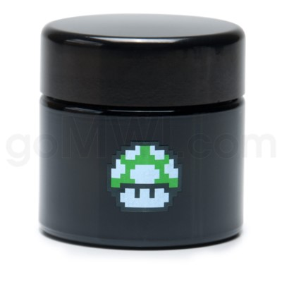 Glass Jar 420 UV Screw Top 1/4oz-1-Up Mushroom