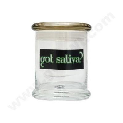 DISC Glass Cali Jar Venti Got Sativa? 3/4 oz.