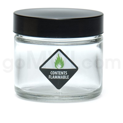 Glass Jar 420 Screw Top 1/8oz-Contents Flammable