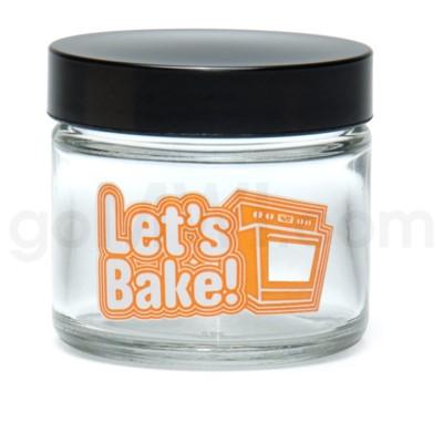 Glass Jar 420 Screw Top 1/8oz-Let's Bake