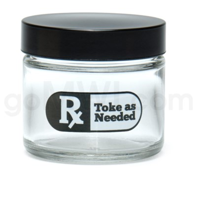 Glass Jar 420 Screw Top 1/8oz-Rx