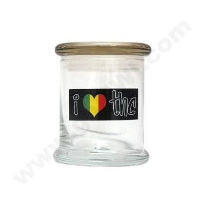 DISC Glass Cali Jar Venti I Luv THC 3/4 oz.