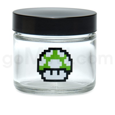 Glass Jar 420 Screw Top 1/8oz-1-Up Mushroom