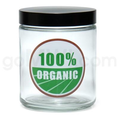 Glass Jar 420 Screw Top 1/4oz-100% Organic