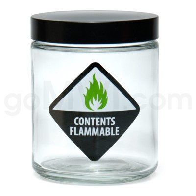 Glass Jar 420 Screw Top 1/4oz-Contents Flammable