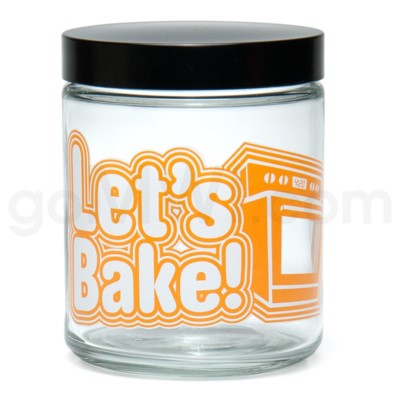 Glass Jar 420 Screw Top 1/4oz-Let's Bake