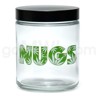 Glass Jar 420 Screw Top 1/4oz-Nugs
