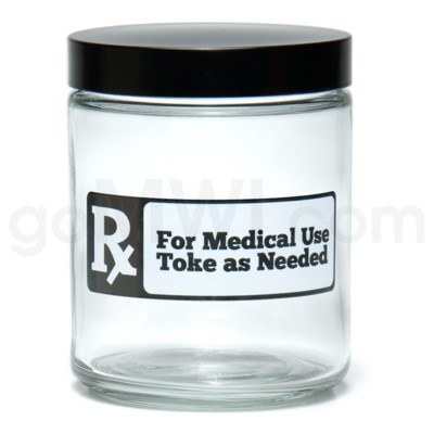 Glass Jar 420 Screw Top 1/4oz-Rx
