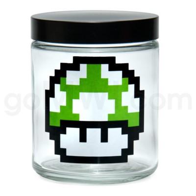Glass Jar 420 Screw Top 1/4oz-1-Up Mushroom