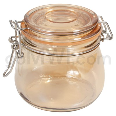 Glass Jar 500ml Glass Jars With Golden Coating