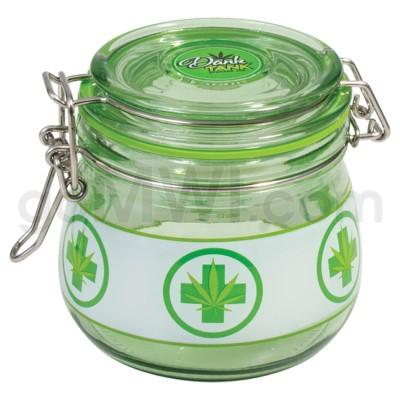 Glass Jar 500ml Glass Jars Green  Rx