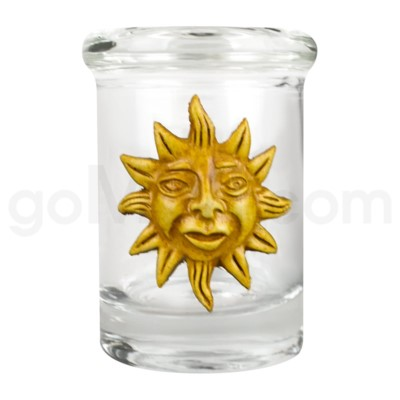 DISC Glass Jar Polyresin Clear - Sun