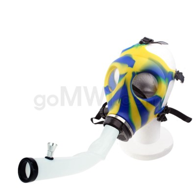 Gas Mask w/ Open End Curve Steamroller-Blue & Yellow