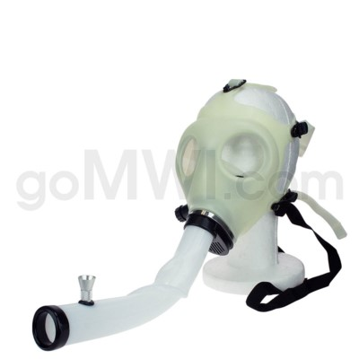 Gas Mask w/ Open End Curve Steamroller-Glow in the Dark