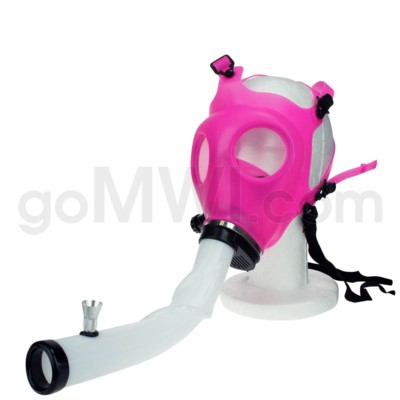 Gas Mask w/ Open End Curve Steamroller- Pink