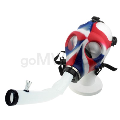 Gas Mask w/ Open End Curve Steamroller-Red White & Blue