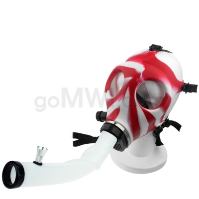 Gas Mask w/ Open End Curve Steamroller- Red & White