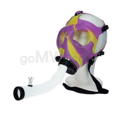 Gas Mask w/ Open End Curve Steamroller-Yellow & Purple
