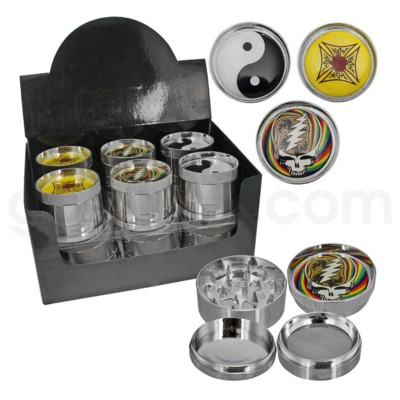 Grinder 4pc Metal Epoxy Emblem - Assorted