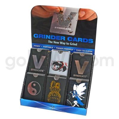 DISC Grinder V Syndicate Card Grinder 60ct Display - Eclip