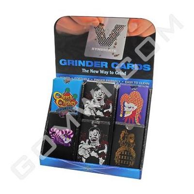 DISC Grinder V Syndicate Card Grinder 60ct Display - Special