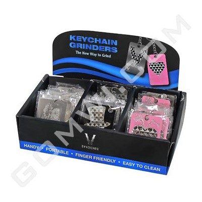 DISC Grinder V Syndicate Card Grinder 60ct Display -Keychain