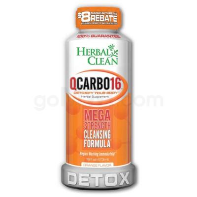Herbal Clean Q Carbo Liquid 16oz - Orange