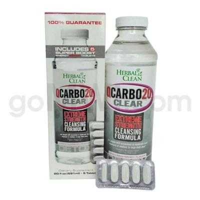 Herbal Clean Q Carbo Clear Liquid 20oz - Cran-Raspberry