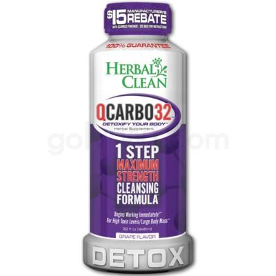 Herbal Clean Q Carbo Liquid 32oz - Grape