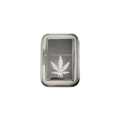 DISC Lighter Bling  w/case Leaf