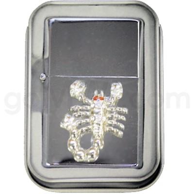 DISC Lighter Bling w/case Scorpion
