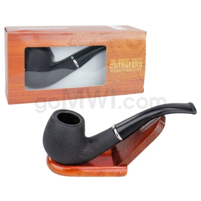 Wooden Pipe w/pouch Black