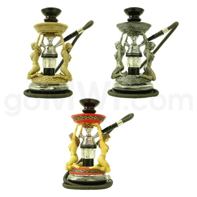 Hookah Amazon (grey red and antique bone)1-HS-12