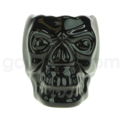Hookah Ceramic Top Skull Small Black