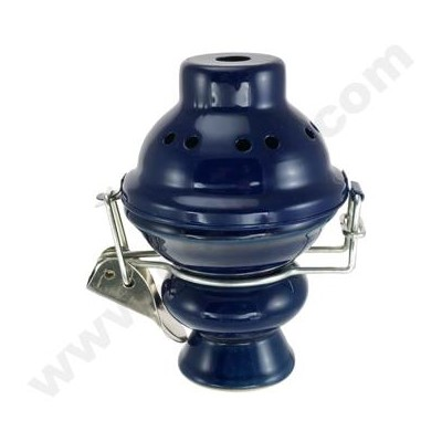 DISC Hookah Ceramic Top with Screen and Wind Protector@ Blue
