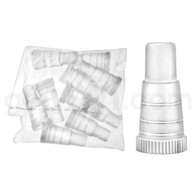 Hookah Mouth Cap Tips 100/Bag - Clear