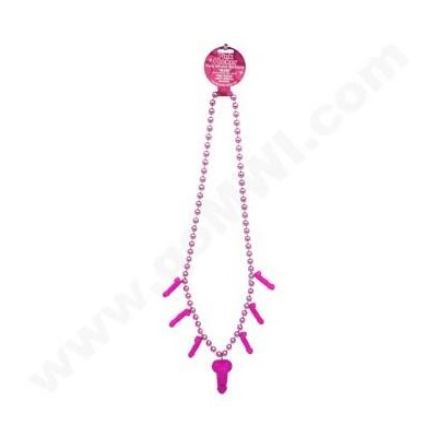 Pink Pecker Pary Whistel Necklace