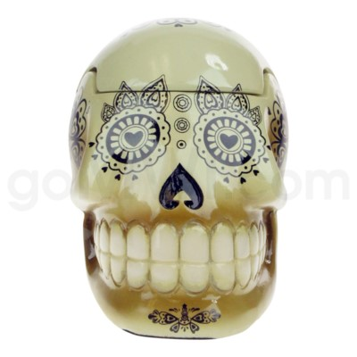 Ashtray Large Day of the Dead Skull - Bone  (48/4/192)