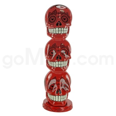 Incense Burner Day of the Dead Tower - Red   (8/20/160)