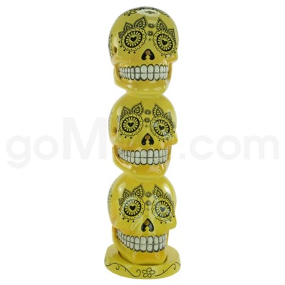 Incense Burner Day of the Dead Tower - Yellow   (8/20/160)