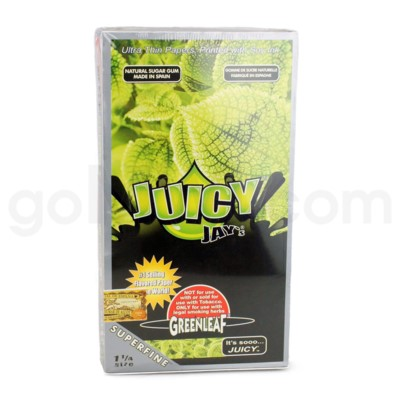 Juicy Jay's 1 1/4'' Rolling Paper -Green Leaf 32/pk 24ct/bx