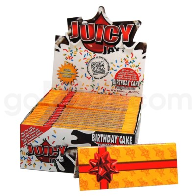 Juicy Jay's KS Rolling Papers-Birthday Cake 32/pk 24ct/bx